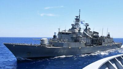 Πολεμικό Ναυτικό - Εν πλω ανεφοδιασμός Φρεγάτας Σαλαμίς (F455) Μάης 2021