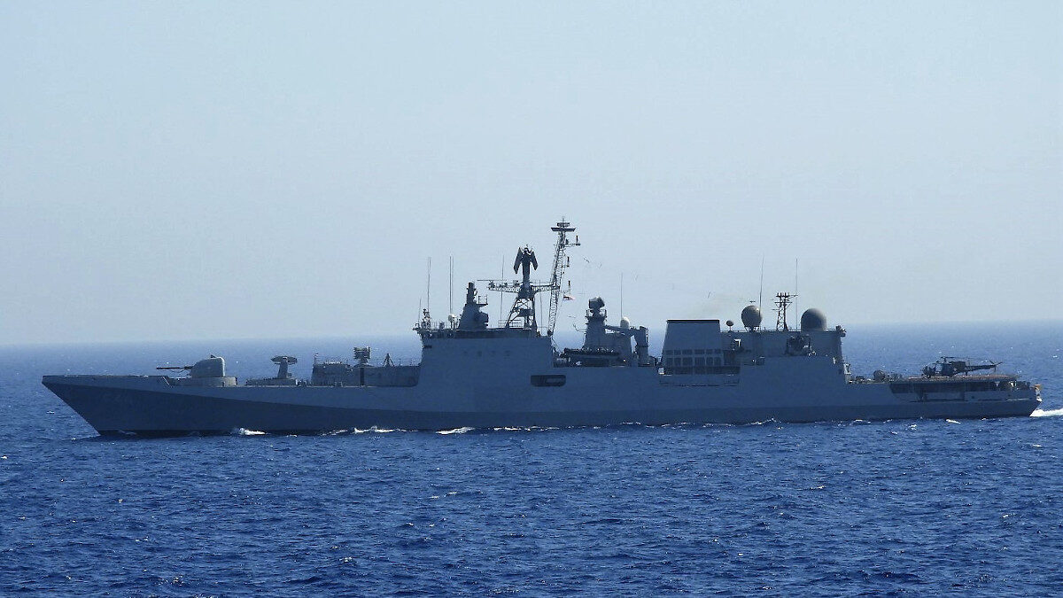 "H Φρεγάτα του Ινδικού Πολεμικού Ναυτικού ""INS TABAR"""