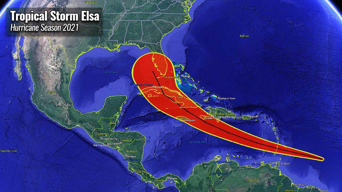 Η πορεία του Κυκλώνα «ΈΛΣΑ» στην Καραϊβική - Ιούλιος 2021