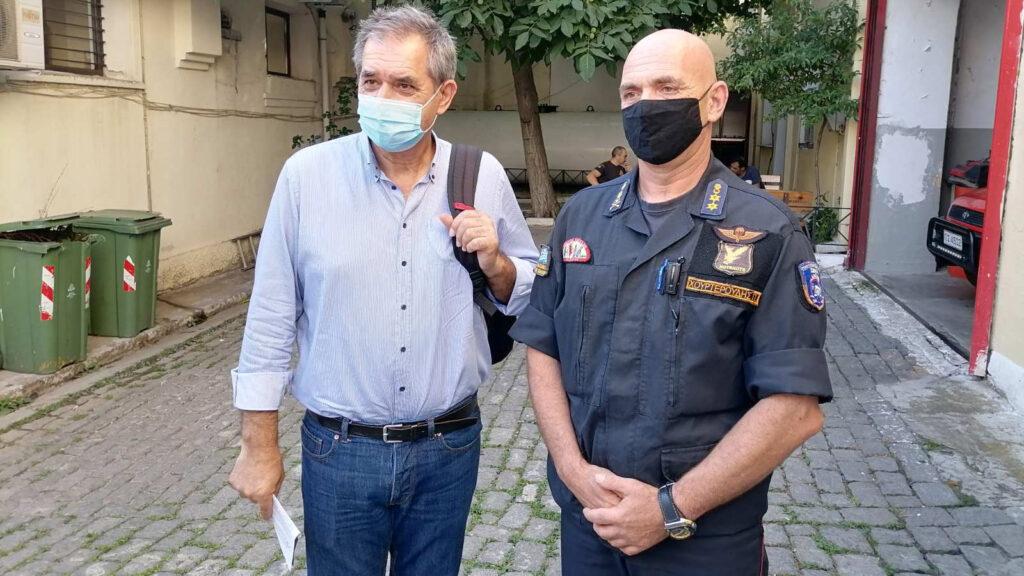 Στην Πυροσβεστική Υπηρεσία Κομοτηνής και την Περιφερειακή Διεύθυνση Πυροσβεστικών Υπηρεσιών Ανατολικής Μακεδονίας - Θράκης ο Γιάννης Δελής, Βουλευτής του ΚΚΕ