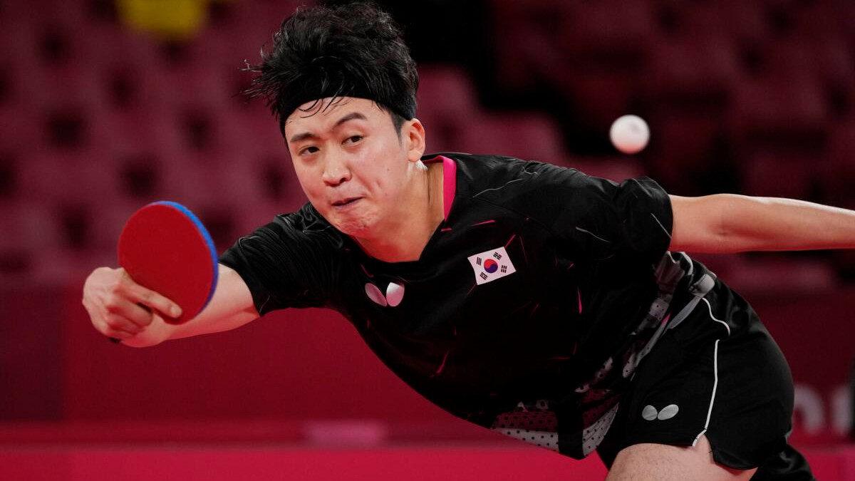 Γεούνγκ Γιανκσίγκ, αθλητής της Νοτίου Κορέας του Πινγκ-Πονγκ στους Ολυμπιακούς Αγώνες, Τόκιο 2020