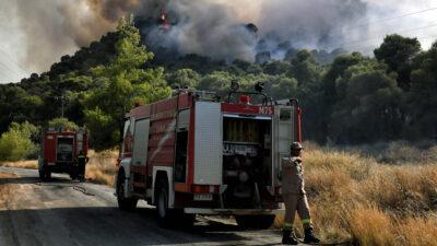 Πυρκαγιά στην Αλμυρή Κορινθίας