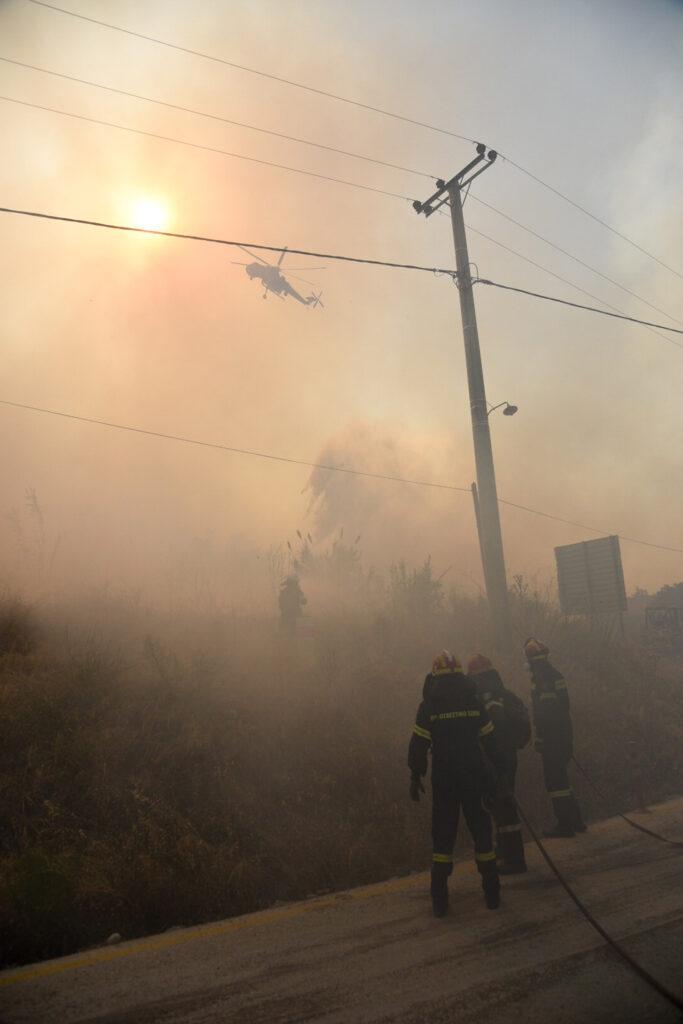 Πυρκαγιά στην περιοχή Λαμπίρη, Ζήρια Αχαΐας, Σάββατο 31 Ιουλίου 2021.