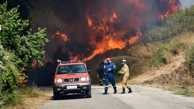 Πυρκαγιά στην περιοχή Ελικίστρα Αχαΐας