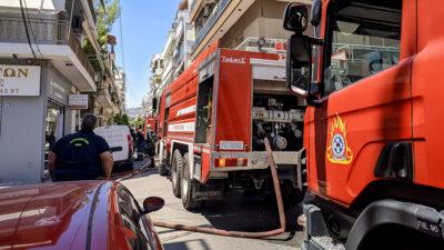 Πυρκαγιά σε διαμέρισμα στη Νίκαια. Παρασκευή 9 Ιουλίου 2021