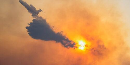 Πυρκαγιά σε δασική έκταση στην Σάμο. Μεγάλη επιχείρηση της πυροσβεστικής με επίγειες και εναέριες δυνάμεις, Πέμπτη 15 Ιουλίου 2021