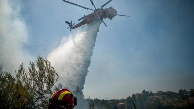 Πυροσβεστική - Πυρκαγιά - Φωτιά σε δασική έκταση στον Βαρνάβα Αττικής. Σάββατο 10 Ιουλίου 2021