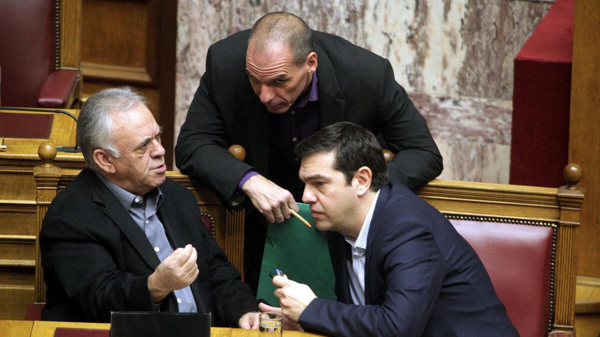 Τσίπρας - Δραγασάκης - Βαρουφάκης / Κυβέρνηση ΣΥΡΙΖΑ, Βουλή