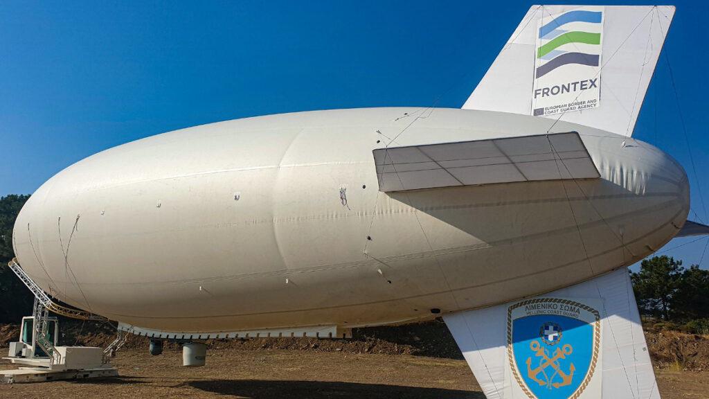 Αερόστατο τύπου ZEPPELIN της FRONTEX και του Λιμενικού Σώματος - Σάμος Ιούλιος 2019