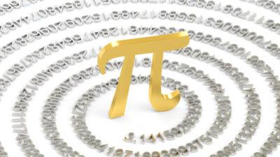 Καλλιτεχνική απεικόνιση της διάσημης σταθεράς του «π»