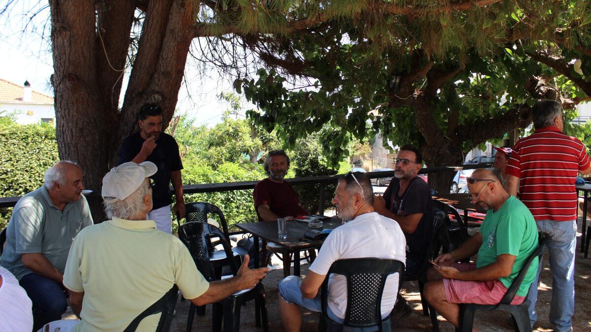 Από την περιοδεία του ΚΚΕ στις πληγείσες περιοχές της Αιγιάλειας