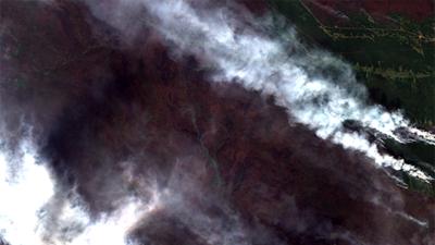 Εικόνα από τις πυρκαγιές στη Σιβηρία