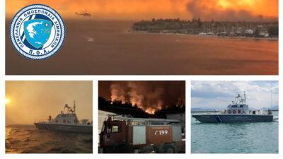 Πανελλήνια Ομοσπονδία Λιμενικών - ΠΟΛ - Διασώσεις πυρόπληκτων στην βόρεια Εύβοια