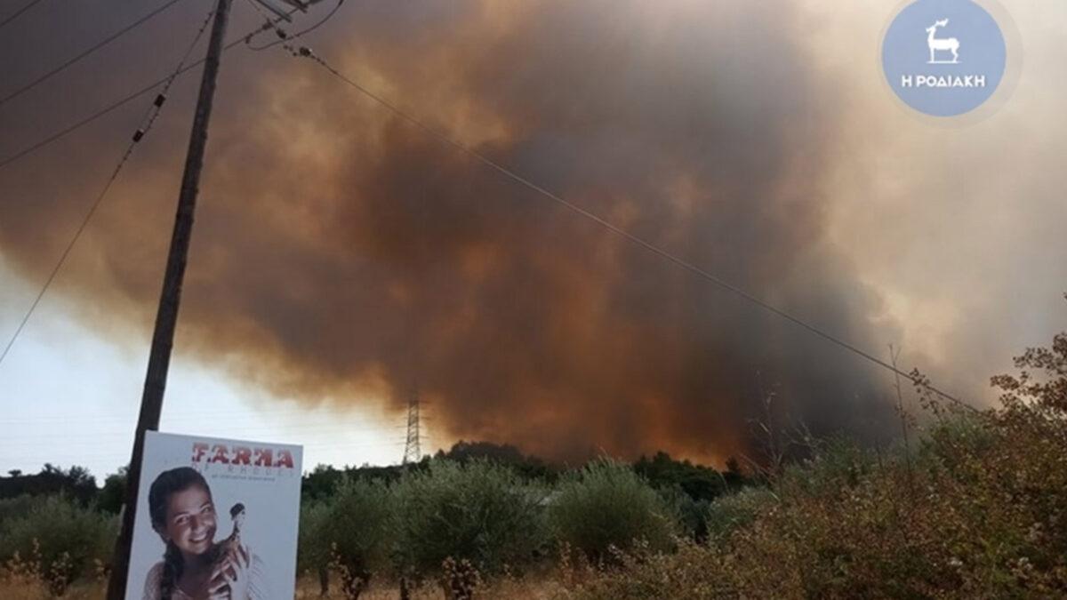 Πυρκαγιά στη Βορειοδυτική Ρόδο / Πηγή: Ροδιακή