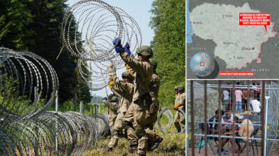 Συρματοπλέγματα με ξυράφια στα σύνορα Λιθουανίας (ΕΕ) - Λευκορωσίας εναντίον προσφύγων και μεταναστών