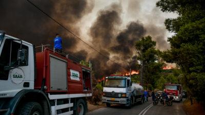Πυρκαγιά στην Αττική