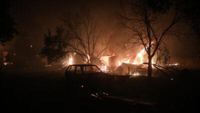 Πυρκαγιά στη Βαρυμπόμπη - Πυροσβεστική