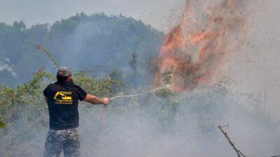 Πυρκαγιά στην Ηλεία - Κάτοικοι και πυροσβέστες στην πρώτη γραμμή της μάχης με τις φλόγες - Σάββατο 7 Αυγούστου 2021