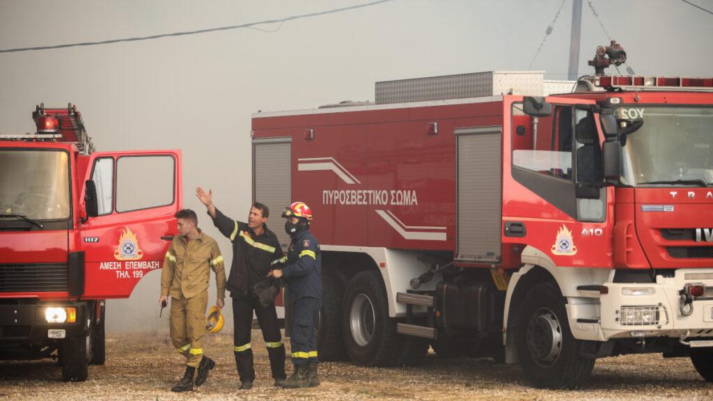 Πυρκαγιά στην Άνω Βαρυμπόμπη του δήμου Αχαρνών, την Τρίτη 3 Αυγούστου 2021.