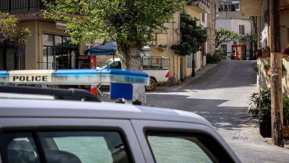 Περιπολικό της Αστυνομίας στα Ανώγεια της ΠΕ Ρεθύμνου - Μάιος 2020
