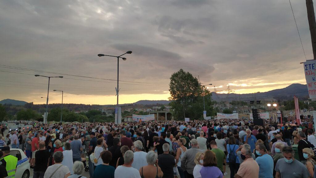 Συλλαλητήριο πυρόπληκτων στη Βόρεια Εύβοια - Αύγουστος 2021