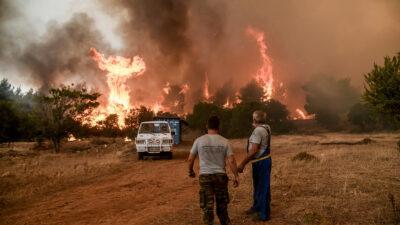 Πυρκαγιά στα Βίλια, Αττικής