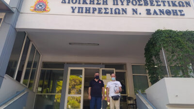 Περιοδεία του Κώστα Βογιατζή, δημοτικού σύμβουλου Ξάνθης και μέλους της Επιτροπής Περιοχής Ανατολικής Μακεδονίας - Θράκης του ΚΚΕ στις Πυροσβεστικές Υπηρεσίες της Ξάνθης και της Βιομηχανικής Περιοχής