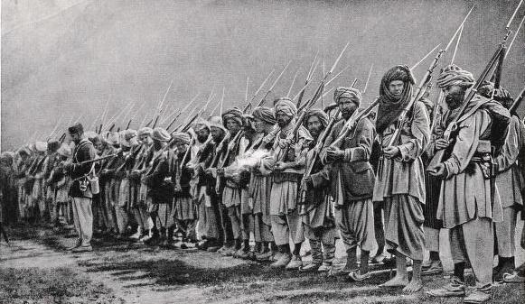 Αφγανοί στρατιώτες μετά τον 3ο απελευθερωτικό πόλεμο του Αφγανιστάν εναντίον της Βρετανικής Αυτοκρατορίας - 1922