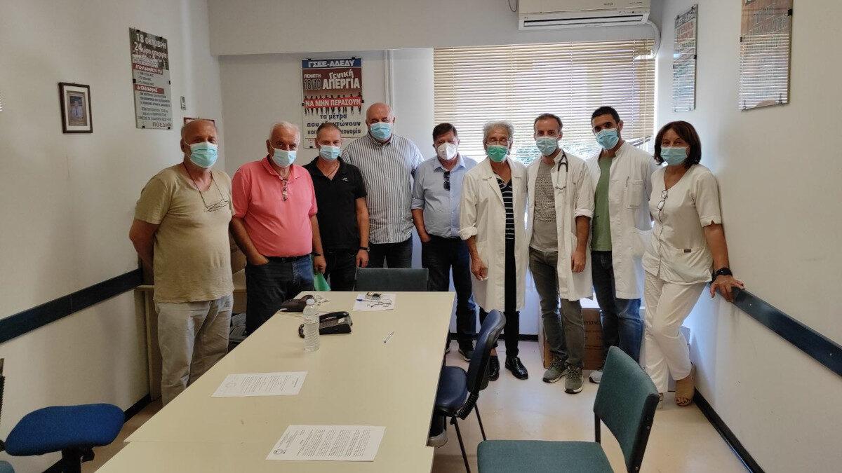 Στα Νοσοκομεία της Πάτρας περιόδευσε ο Ν. Καραθανασόπουλος