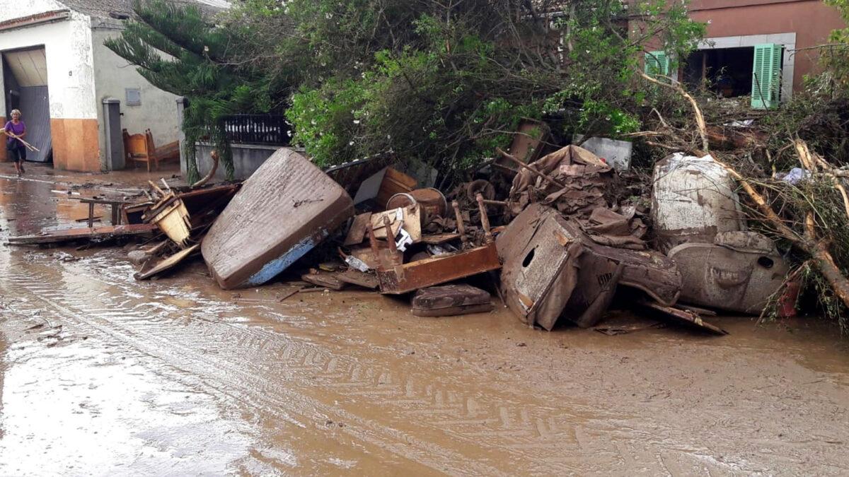 Από την πόλη Αλκανάρ, στη βορειοανατολική Καταλονία μετά την καταιγίδα της 1ης Αυγούστου 2021