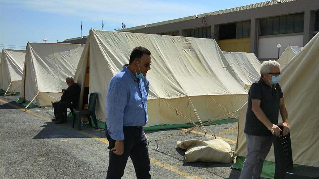 Ο Λεωνίδας Στολτίδης σε περιοδεία στο Αρκαλοχώρι Ηρακλείου Κρήτης