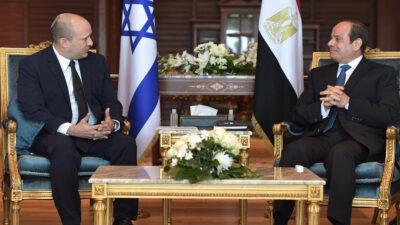 Συνάντηση Ναφτάλι Μπένετ, Πρωθυπουργού του Ισραήλ με τον Άμπντελ Φάταχ αλ Σίσι, Πρόεδρο της Αιγύπτου