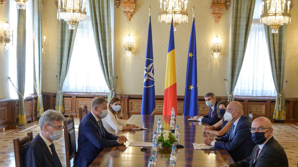 Επίσκεψη του υπουργού Εξωτερικών Νίκου Δένδια στην Ρουμανία, Τετάρτη 8 Σεπτεμβρίου 2021.
