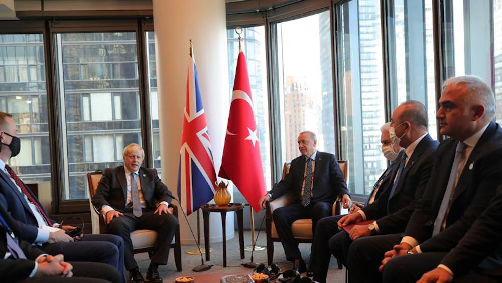 Νέα Υόρκη: Συνάντηση του Βρετανού Πρωθυπουργού, Μπόρις Τζόνσον με τον Τούρκο Πρόεδρο, Ρ.Τ Ερντογάν