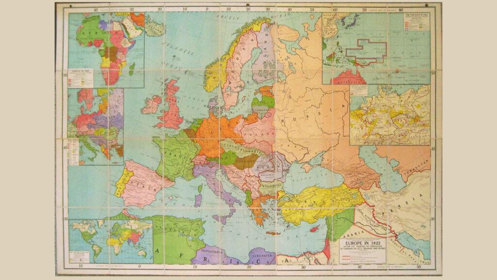 Χάρτης της Ευρώπης το 1922