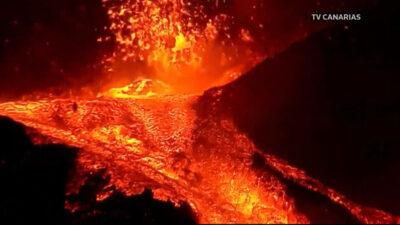Ηφαίστειο Κούμπρε Βιέχα στο νησί Λα Πάλμα των Καναρίων της Ισπανίας