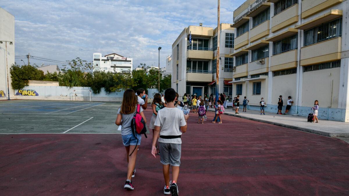 Έναρξη της νέας σχολικής χρονιάς στο 12ο Δημοτικό Σχολείο Καλλιθέας, Δευτέρα 13 Σεπτεμβρίου 2021.