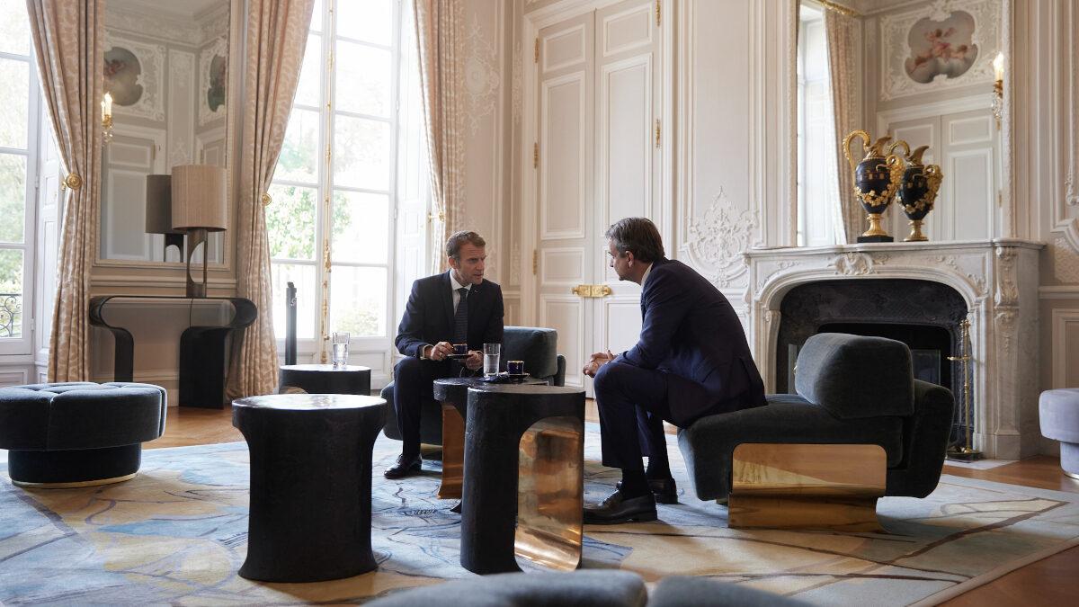 Συνάντηση του Πρωθυπουργού Κ. Μητσοτάκη με τον Γάλλο Πρόεδρο, Εμ. Μακρόν, στο Παρίσι
