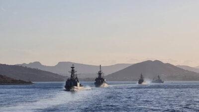 """Άσκηση """"ΟΡΜΗ"""" του Πολεμικού Ναυτικού (ΠΝ), στη θαλάσσια περιοχή του Σαρωνικού, με τη συμμετοχή πλοίων της Διοίκησης Ταχέων Σκαφών (ΔΤΣ). Σεπτέμβρης 2021 / (EUROKINISSI/ΓΕΝ)"""
