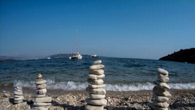 Καιρός - Λιακάδα - Πέτρες - Παραλία Κερασιά στην Κέρκυρα