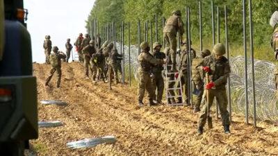 Φράχτης της Πολωνίας στα σύνορα με τη Λευκορωσία