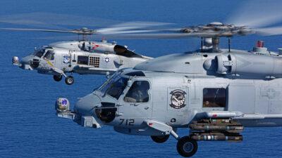 """Ελικόπτερα ανθυποβρυχιακού πολέμου τύπου Sikorsky MH-60, """"Romeo"""" της Lockheed Martin"""