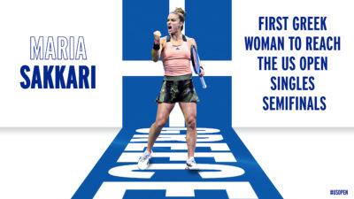 Αφιέρωση του US Open στον θρίαμβο της Ελληνίδας τενίστριας - Σάκκαρη