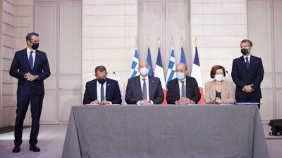 Υπογραφή της στρατηγικής συμφωνίας ανάμεσα σε Ελλάδα και Γαλλία