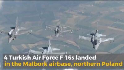 Τέσσερα τουρκικά F-16 block 40 συμμετέχουν στο πλαίσιο της ΕΑΡ (Enhanced Air Policing) του NATO σε αποστολές εναέριας αστυνόμευσης στην Πολωνία