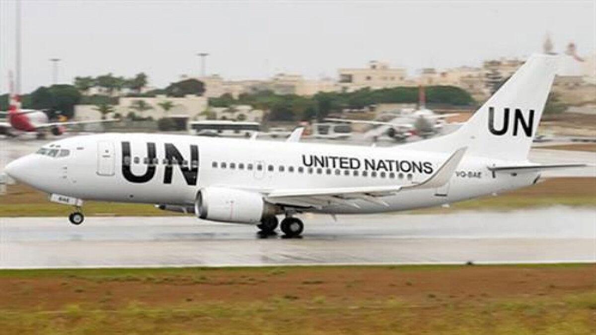 Αεροπλάνο ναυλωμένο από τον Οργανισμό Ηνωμένων Εθνών (ΟΗΕ)