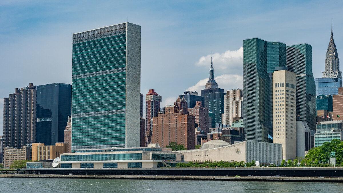 Κτίριο του Οργανισμού Ηνωμένων Εθνών (ΟΗΕ) στη Νέα Υόρκη