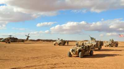 Ειδικές Δυνάμεις των ΗΠΑ στη Νότια Συρία στη Στρατιωτική Βάση AL TANF