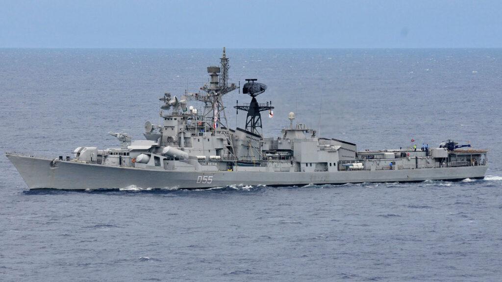 Αντιτορπιλικό (κλάσης Rajput) το INS Ranvijay (D55) του Πολεμικού ναυτικού της Ινδίας
