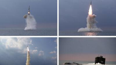 Δοκιμαστική εκτόξευση βαλλιστικού πυραύλου από υποβρύχιο του Πολεμικού Ναυτικού της Βόρειας Κορέας - Οκτώβριος 2021